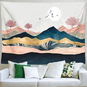 Aesthetic Mountain Sunset Wall Hanging Tapestry